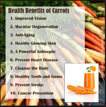 carrot health benefits