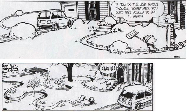 Calvin and Hobbes Comic Strip from Bill Watterson