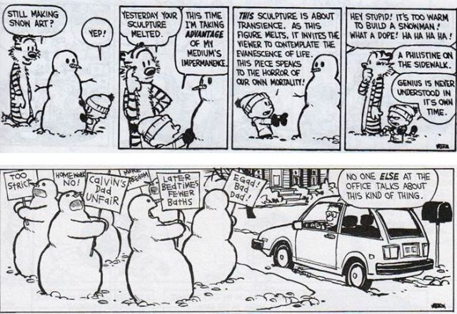 Calvin and Hobbes Comic Strip by Bill Watterson