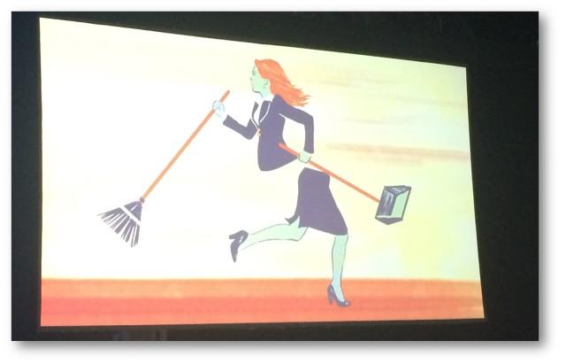 A cartoon a part of Adam Grant's talk.